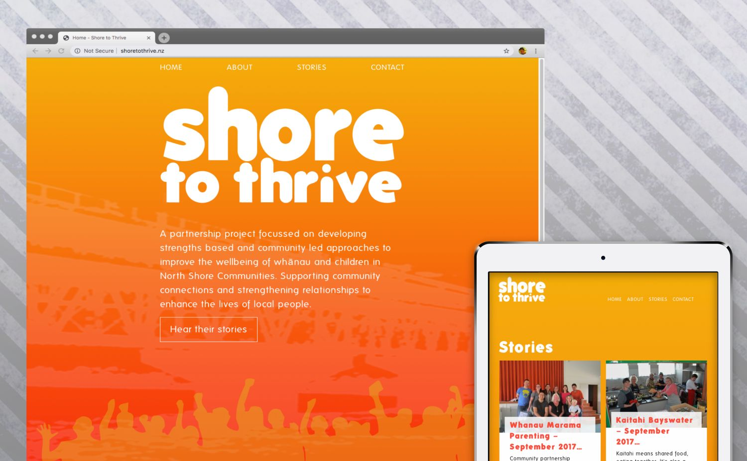 Shore To Thrive Desktop and Mobile Website