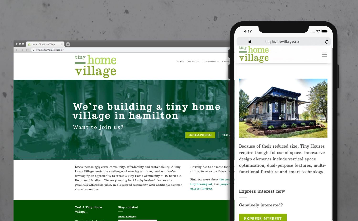 Tiny Home Village website