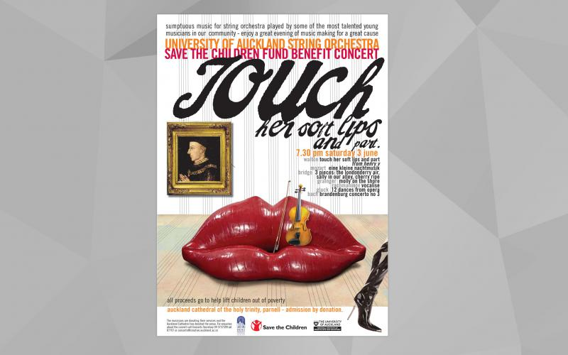 Auckland School of Music  - Touch Poster