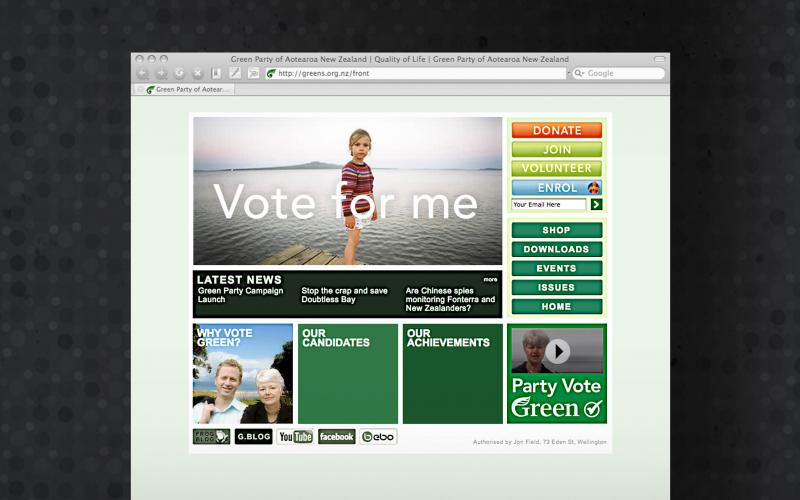 NZ Green Party  - homepage